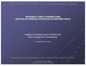 CENTRO INTERUNIVERSITARIO DE DESARROLLO, CINDA