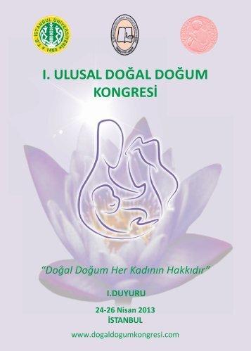 dogal dogum kongre brosuru - 09.04.2013 yeni - İstanbul Üniversitesi