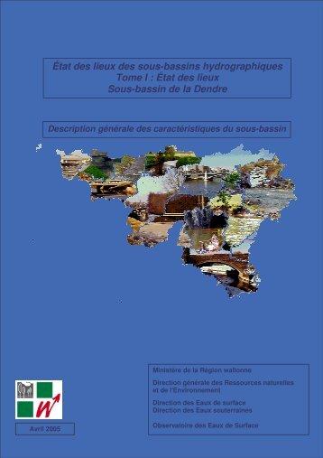 État des lieux Sous-bassin de la Dendre - Portail environnement de ...