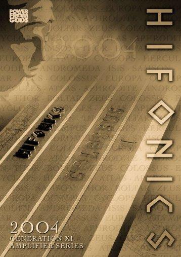 Hifonics 2004 - Car Hifi Audio Neuigkeiten und Infos
