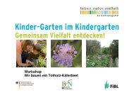 Präsentation Biodiversität (pdf-Datei) - Kinder-Garten.de