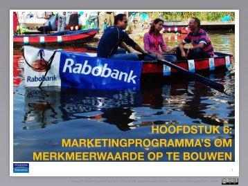 hoofdstuk 6: marketingprogramma's om merkmeerwaarde ... - Pearson
