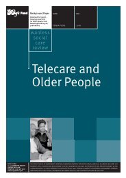Telecare and Older People Derek Wanless Social ... - The King's Fund