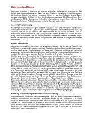 Datenschutzerklärung - Contra Tischtennis Service