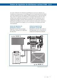 Station de régulation de distributeur varimat F/WR I.6.3
