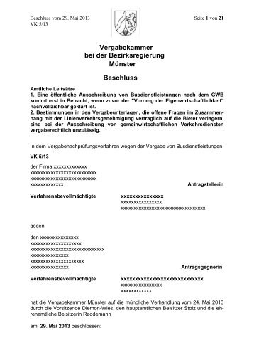 Vergabekammer/ Entscheidungen_der_Vergabekammer/ 2013