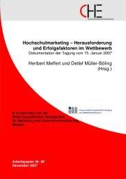 Hochschulmarketing - Centrum für Hochschulentwicklung