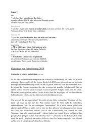 Gedanken zur Jahreslosung 2014 - St. Matthäus zu Medelby