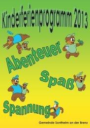 Kinderferienprogramm 2013 - Gemeinde Sontheim an der Brenz