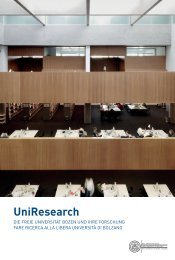 UniResearch - Freie Universität Bozen