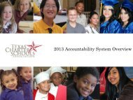 2013 Accountability System Overview - Texas Charter Schools ...