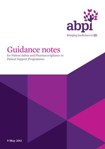 NB_ABPI PEN PSP guidance - Association of the British ...