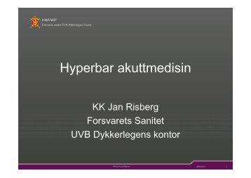 Hyperbar akuttmedisin - nakos