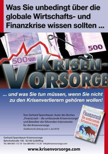 Was Sie unbedingt über die globale Wirtschafts ... - Krisenvorsorge