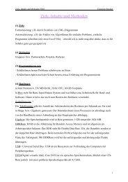 Ziele, Inhalte und Methoden
