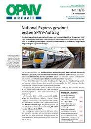 ÖPNV aktuell Ausgabe 11/2013