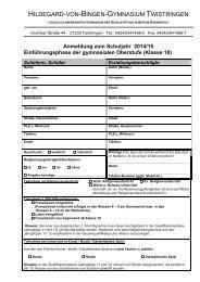 Jahrgang 10 - Hildegard-von-Bingen-Gymnasium Twistringen
