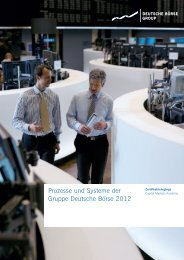 Prozesse und Systeme Gruppe Deutsche Börse 2012