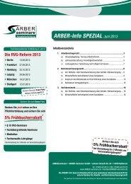 ARBER-Info SPEZIAL Juni 2013 - ARBER|seminare
