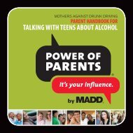 TALKING WITH TEENS ABOUT ALCOHOL - EP4Y