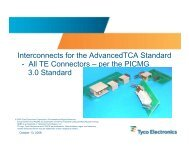 Interconnects for the AdvancedTCA Standard - All ... - TE Connectivity