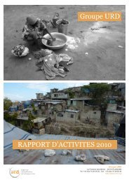 Rapport d'activités 2010 - Groupe URD