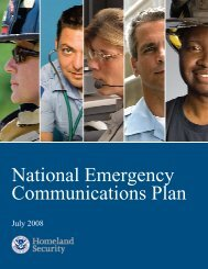 National Emergency Communications Plan - Maine.gov