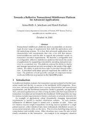 Towards a Reflective Transactional Middleware Platform for ... - NIK