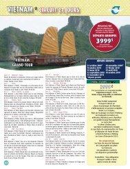 VIETNAM * CIRCUIT 21 JOURS 3999$ - Voyages Cassis