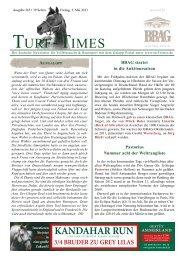 aufgalopp - Turf-Times Deutschland