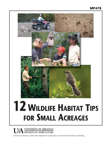 12 Wildlife Habitat Tips for Small Acreages - University of Arkansas ...