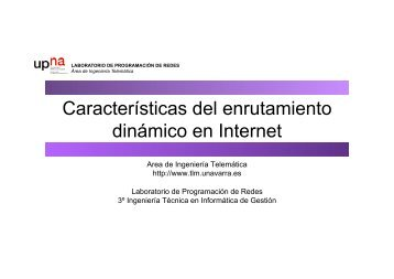Características del enrutamiento dinámico en Internet - Telemática