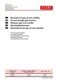 Download Spare Parts Catalogue - Riello Burners