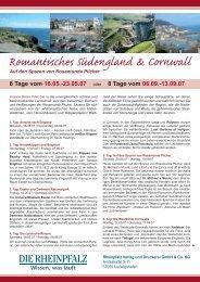 Romantisches Südengland & Cornwall - Die Rheinpfalz