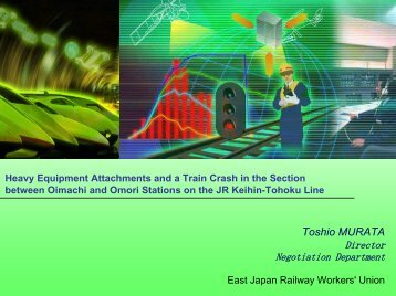 Presentation - International Rail Safety Conference