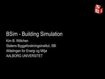 Introduktion til BSim - Statens Byggeforskningsinstitut