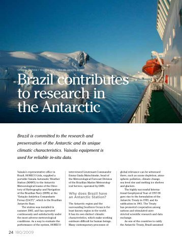 Brazil Contributes to Research in the Antarctic (pdf, 182KB) - Vaisala