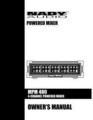 MPM 480 Manual - zZounds.com