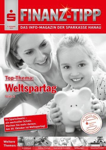 S-Finanz-Tipp September 2013 - Sparkasse Hanau