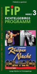 Fichtelgebirgs-Programm - März 2014
