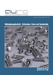Befestigungstechnik - Schrauben- Norm und Sonderteile - AURO ...