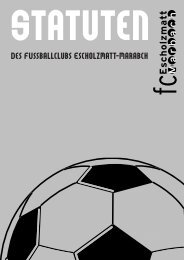 Statuten der GV 2010 - FC Escholzmatt-Marbach