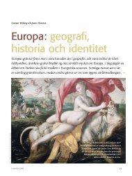 europa: geografi, historia och identitet - Politiken.se