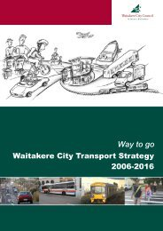Waitakere City Transport Strategy - Full Document - Auckland ...