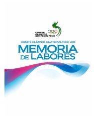 Memoria de Labores 2011 - Comite Olimpico Guatemalteco