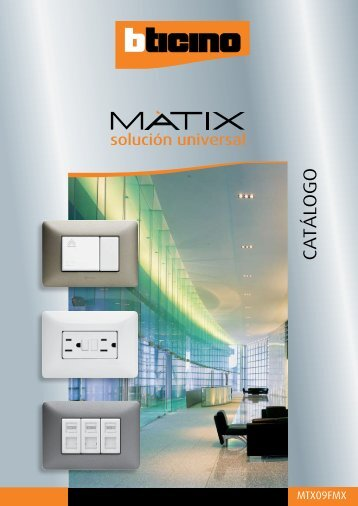 Catalogo Bticino Matix - Mercado-ideal