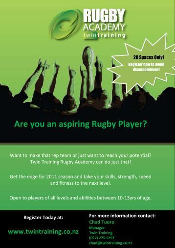 Are you an aspiring Rugby Player? - AllTeams