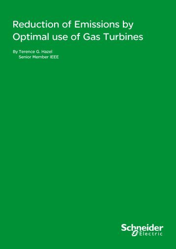 Reduction of Emissions by Optimal use of Gas ... - Schneider Electric
