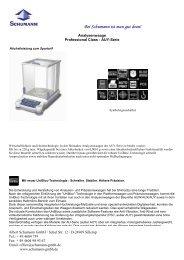Informationen zum Produkt - Waagen-Shop
