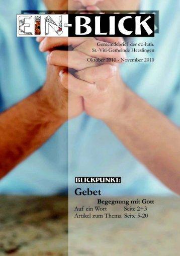 Gemeindebrief (Oktober 2011) - Heeslingen